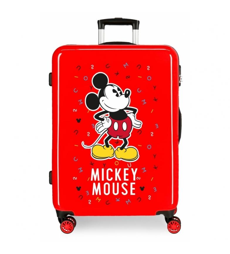 Comprar Mickey Valise Mickey moyenne rigide lettres 68cm rouge 70L / -48x68x26cm valise rigide