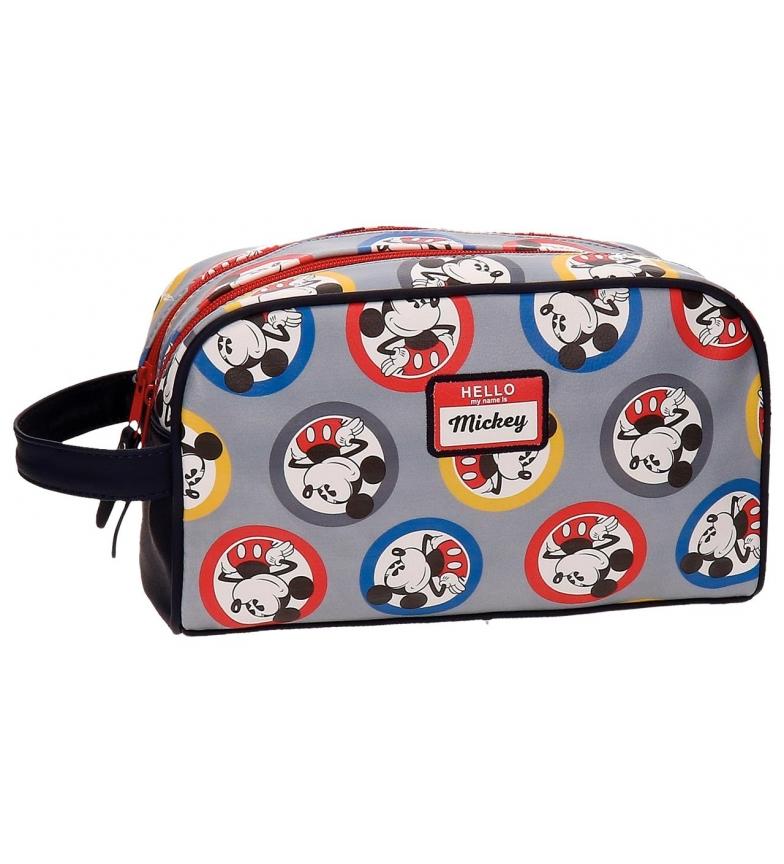 Comprar Mickey Neceser adaptáveis ??dupla trole compartimento Círculos Mickey multicolor