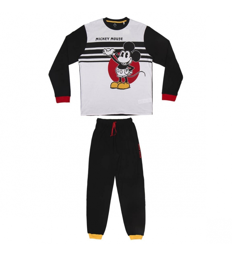 Comprar Mickey Pyjama long noir Interlock Mickey