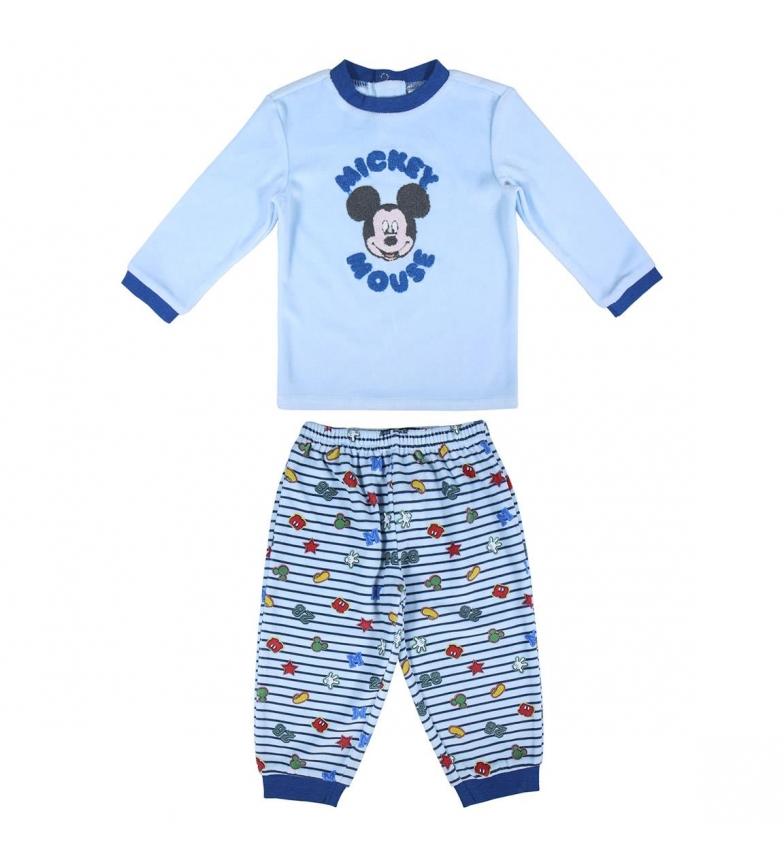 Comprar Cerdá Group Pijama largo Velour Mickey azul