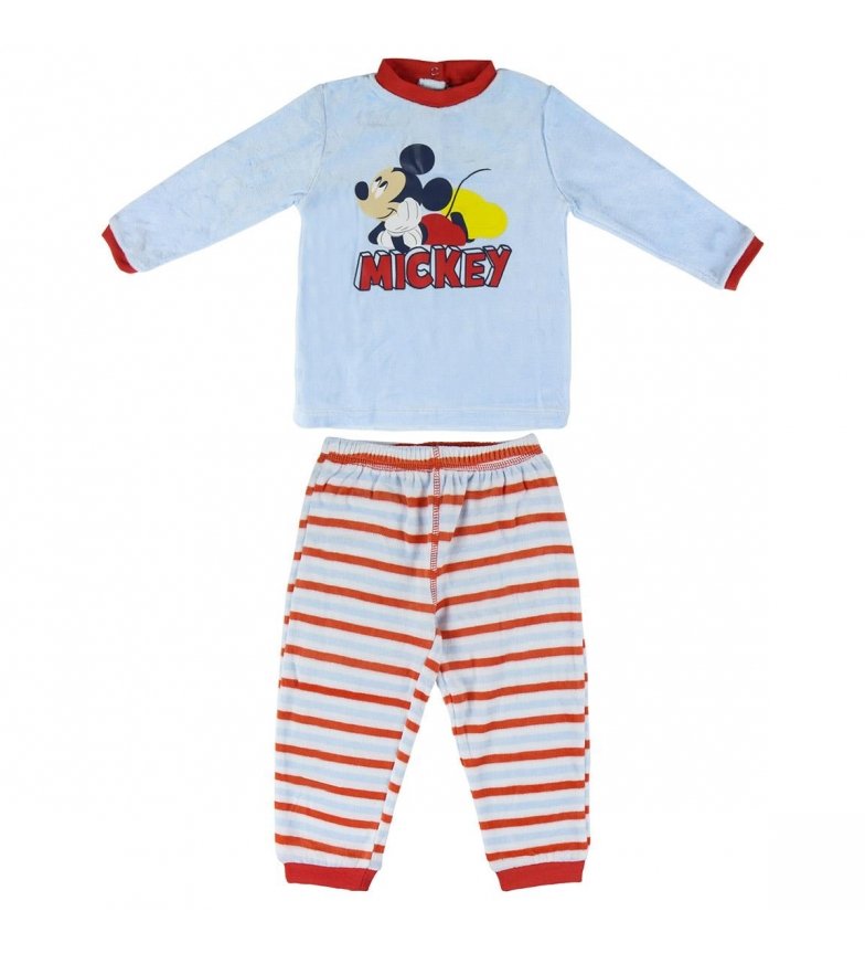 Comprar Mickey Pyjama long en velours Mickey bleu