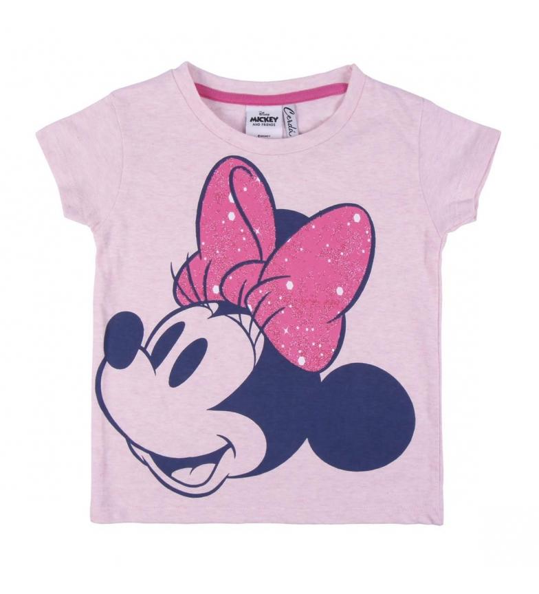 Comprar Cerdá Group Glitter Single Jersey Minnie Short Sleeve Short Sleeve T-Shirt pink