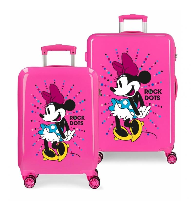 Comprar Minnie Set valigie rigide Minnie 70L / 34L Rock Dots -38x55x20 / 48x68x25cm-