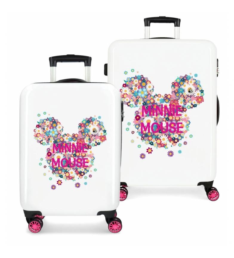Comprar Minnie Juego de Maletas Minnie rígidas 70L / 34L Sunny Day Flores Fucsia -38x55x20 / 48x68x25cm-