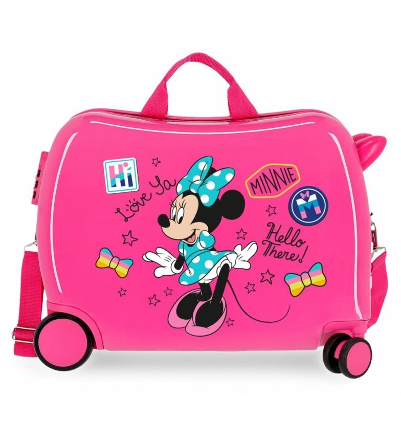 Comprar Minnie Maleta correpasillos Minnie Hi love 2 ruedas multidireccionales -38x50x20cm-