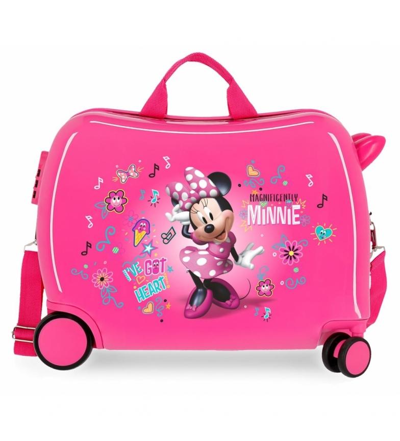 Comprar Minnie Maleta correpasillos Minnie Stickers 2 ruedas multidireccionales -38x55x20cm-