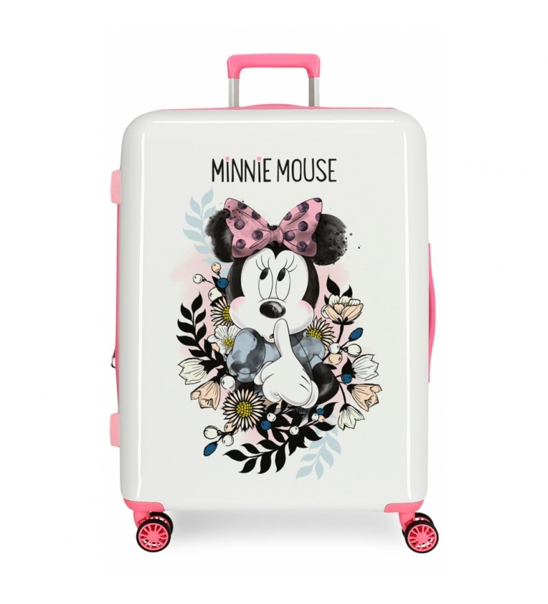 Comprar Minnie Suitcase medium Style flowers rigid -70x48x26cm