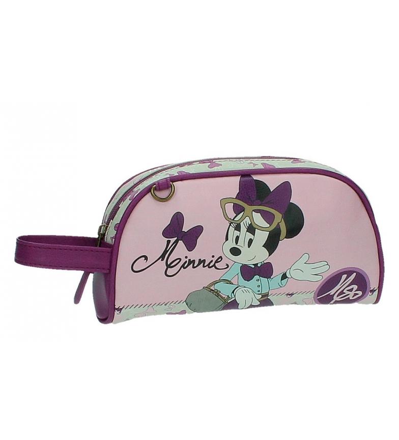 Comprar Minnie Minnie Neceser Glam con maniglia lato rosa
