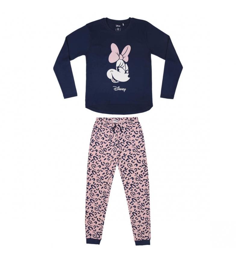 Comprar Minnie Pijama Minnie Interlock longo preto, rosa