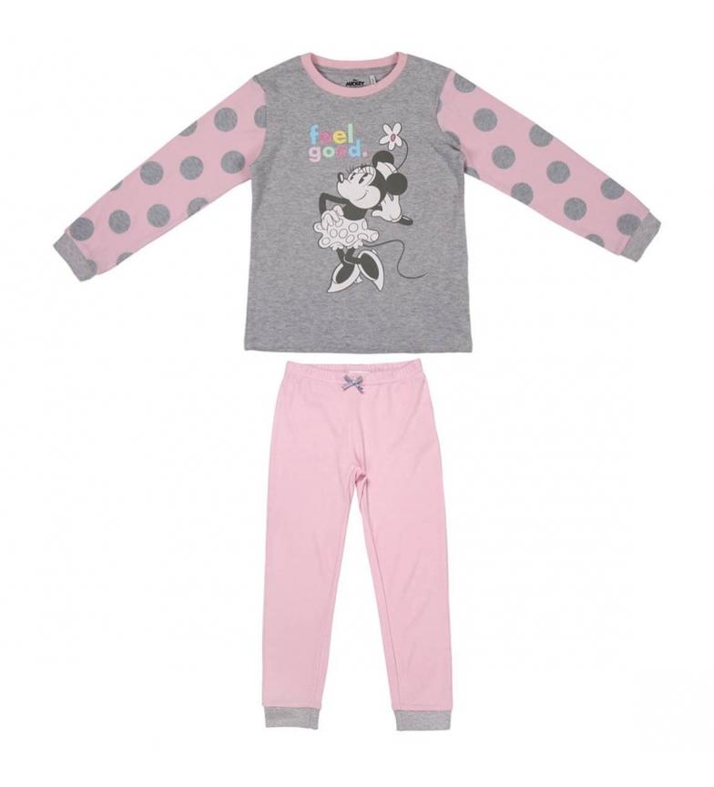 Comprar Minnie Pijamas Minnie Interlock Longo Pijamas cinza, rosa