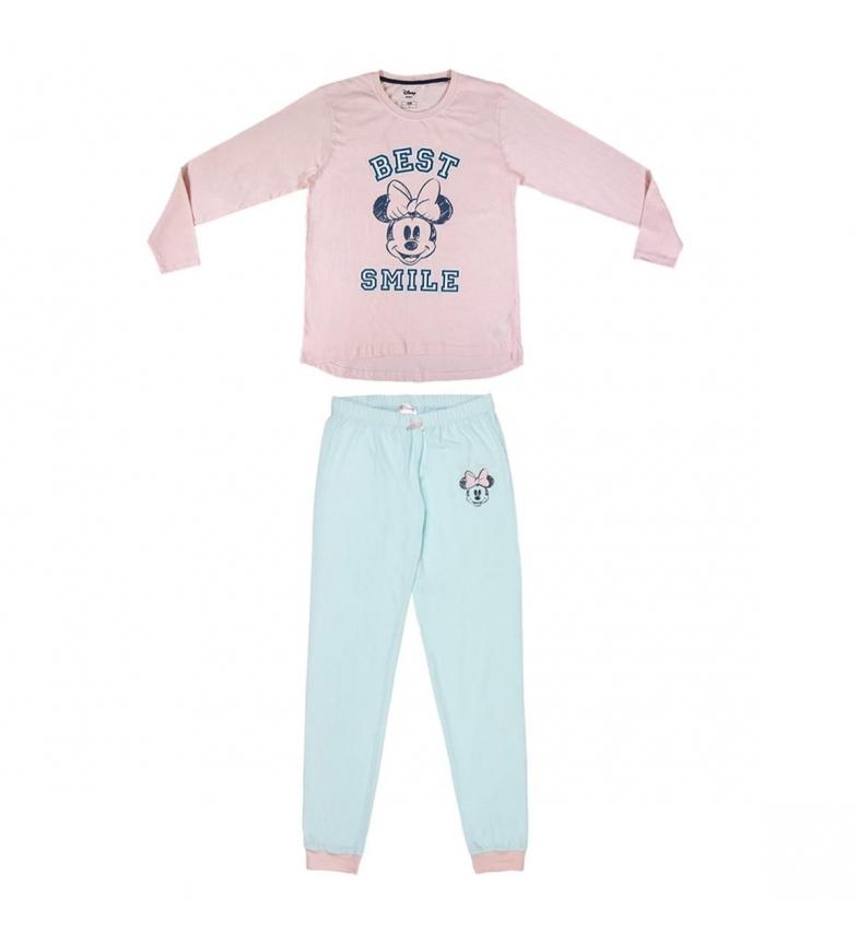 Comprar Minnie Pijama de manga comprida Single Jersey Minnie rosa, azul