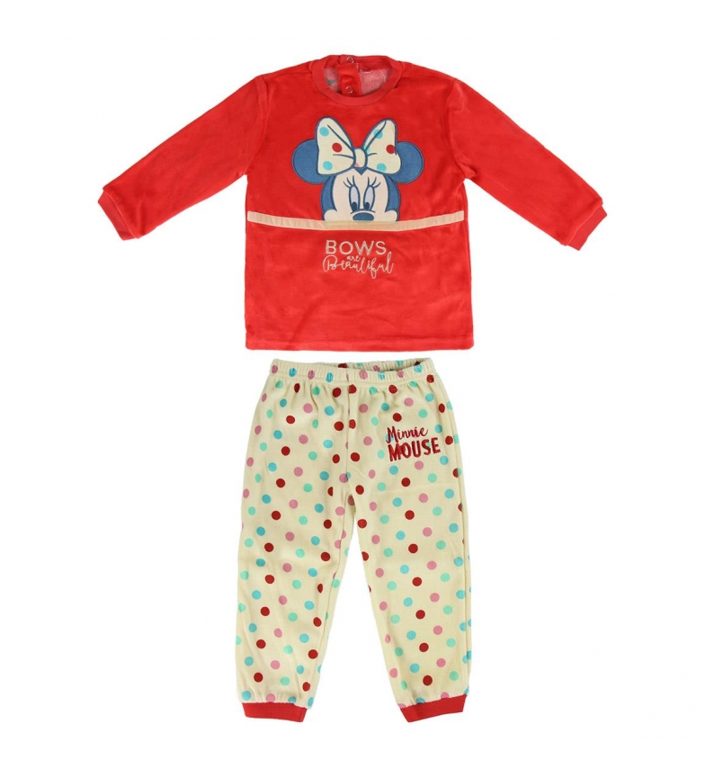 Comprar Minnie Pijama Longo Veludo Minnie vermelho