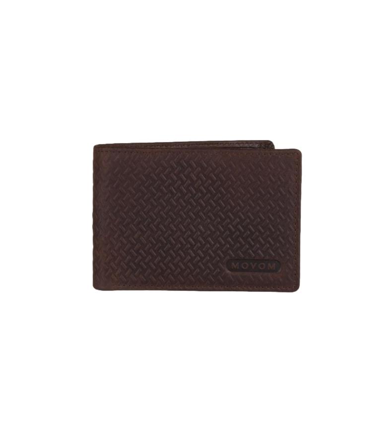 Comprar Movom Billetera de piel Movom Capsule horizontal con Billetera extraible Marrón -11x8.5x1cm-