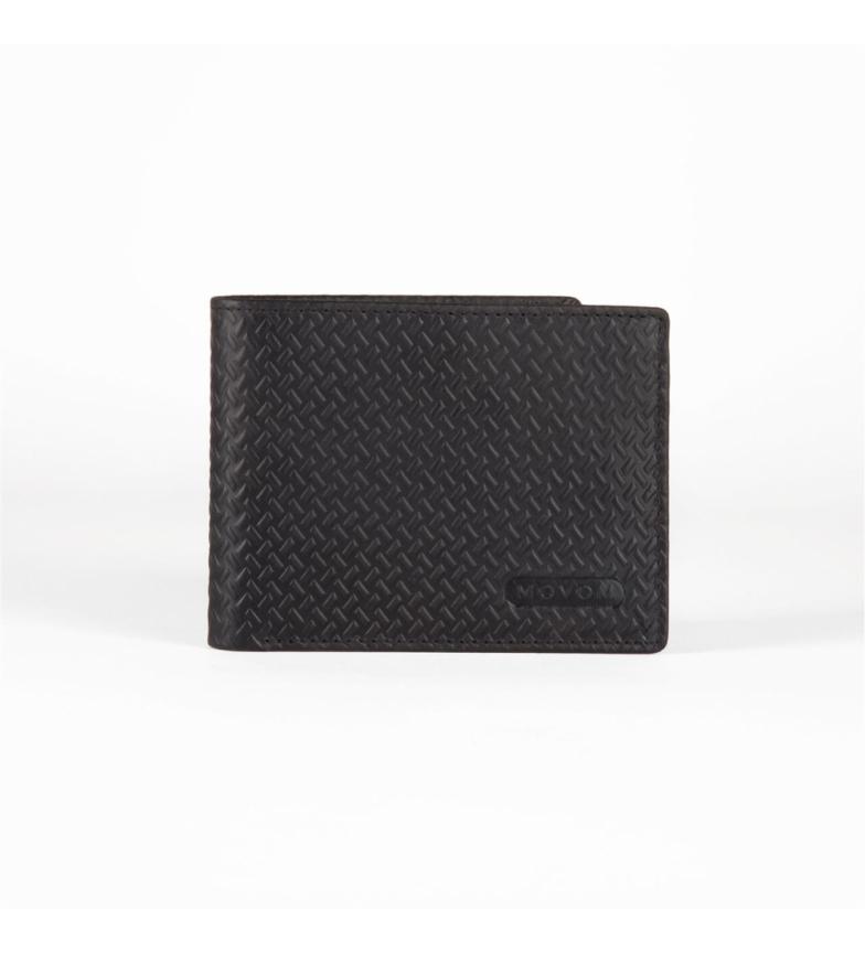 Comprar Movom Carteira de couro horizontal Movom Capsule com Carteira preta removível -11x8.5x1cm-