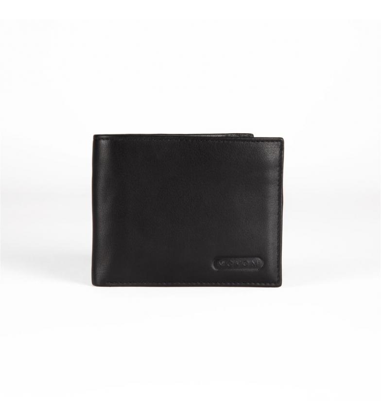 Comprar Movom Portefeuille horizontal en cuir Movom Rectangle avec porte-monnaie noir amovible -11x8.5x1cm-