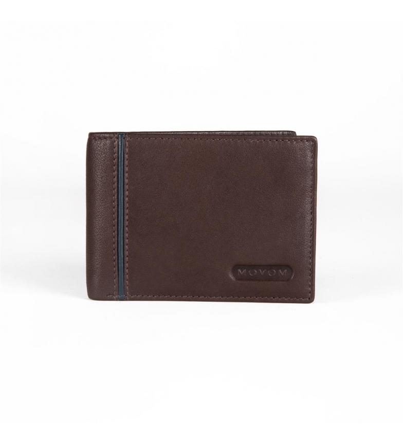 Comprar Movom Portefeuille en cuir Movom Capsule horizontal simple Marron -12.5x9.5x1cm-