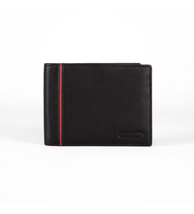 Comprar Movom Portefeuille en cuir Movom Capsule horizontal simple Noir -12.5x9.5x1cm-