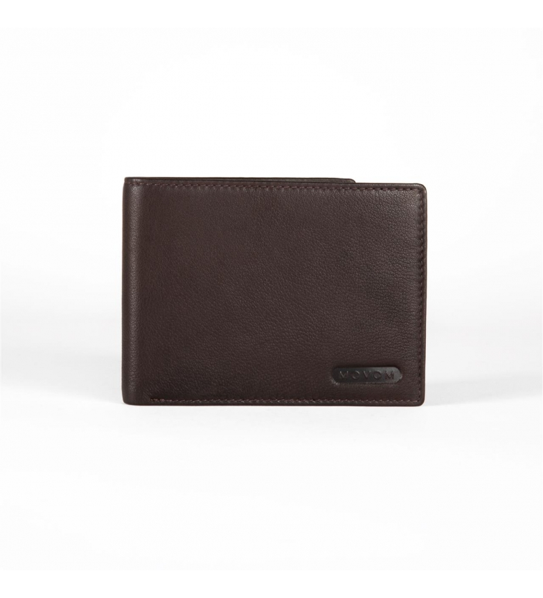 Comprar Movom Portefeuille en cuir Movom Rectangle horizontal simple Marron -12.5x9.5x1cm-