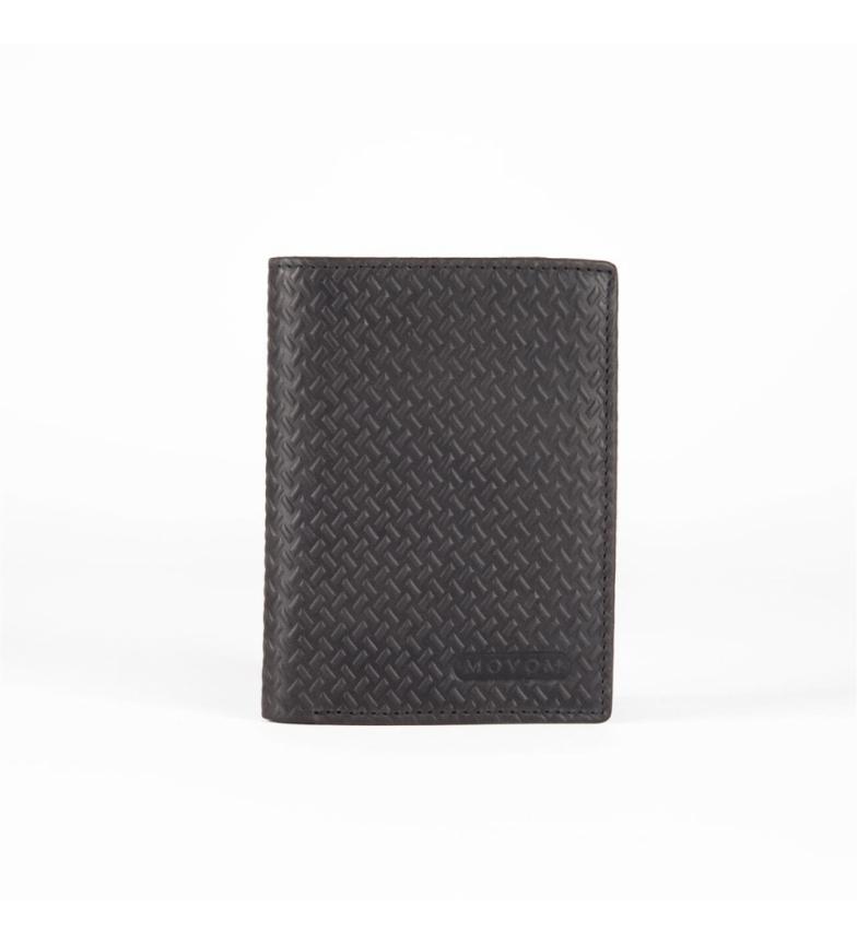 Comprar Movom Carteira de couro vertical Movom aço com carteira preta -8.5x11.5x1cm-