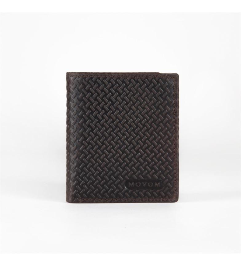 Comprar Movom Carteira de couro Movom Steel vertical Brown -8.5x10.5x1cm-
