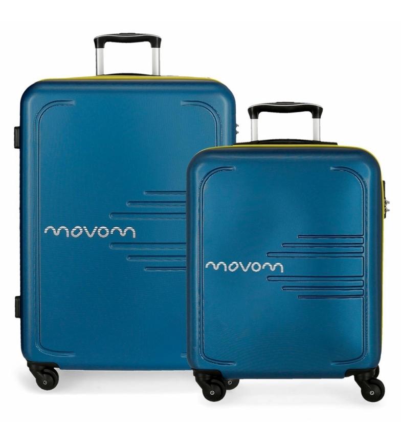 Comprar Movom Juego de 2 maletas  rígidas 55-69 Movom Flash azul marino -55x40x20cm / 69x49x28cm-