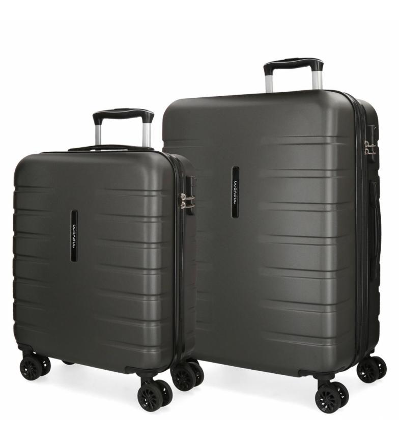 Comprar Movom Juego de 2 maletas  rígidas 55-69 Movom Turbo gris -55x40x20cm / 69x49x28cm-