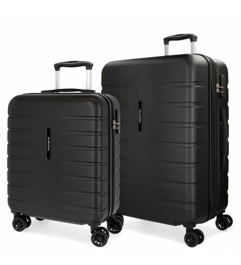 Comprar Movom Set of 2 rigid suitcases 55-69 Movom Turbo Black -55x40x20cm / 69x49x28cm