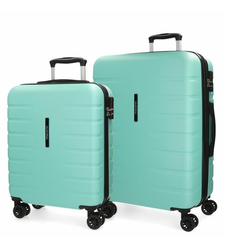 Comprar Movom Lot de 2 valises rigides 55-69 Movom Turquoise Turbo -55x40x20x20cm / 69x49x28cm