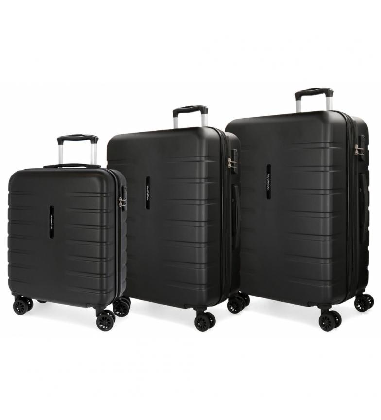 Comprar Movom Set of 3 rigid suitcases 55-69-79cm Movom Turbo black -55x40x20cm / 69x49x28cm / 79x56x33cm