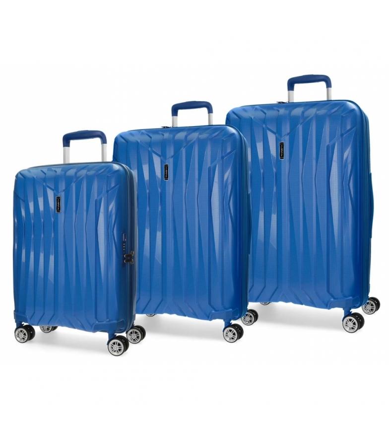 Comprar Movom Juego de maletas Movom Fuji Azul rígidas -37L/67L/98L-