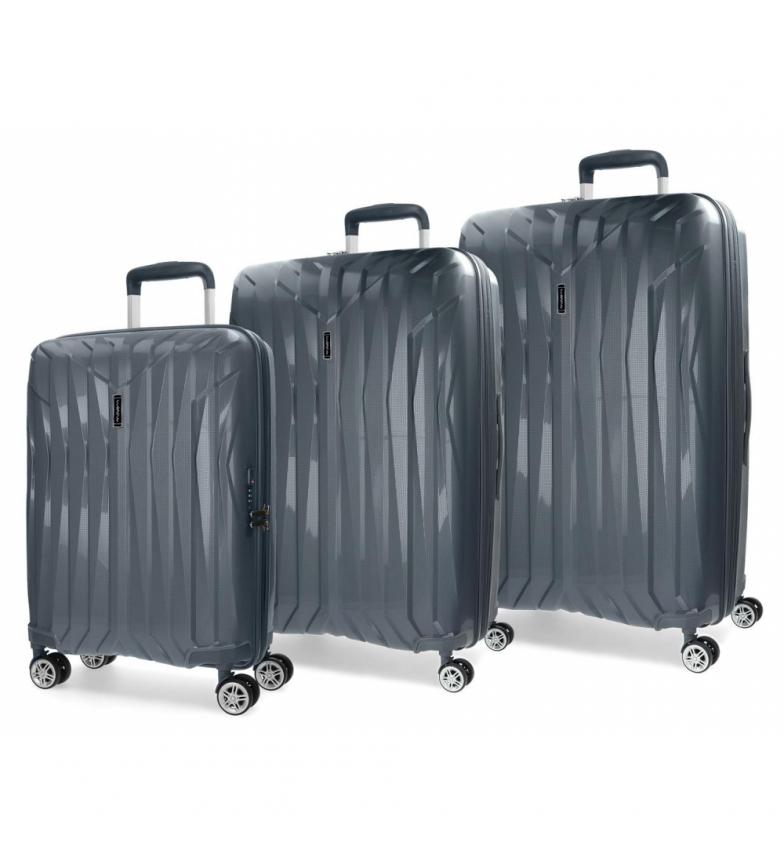 Comprar Movom Juego de maletas Movom Fuji Gris rígidas -37L/67L/98L-