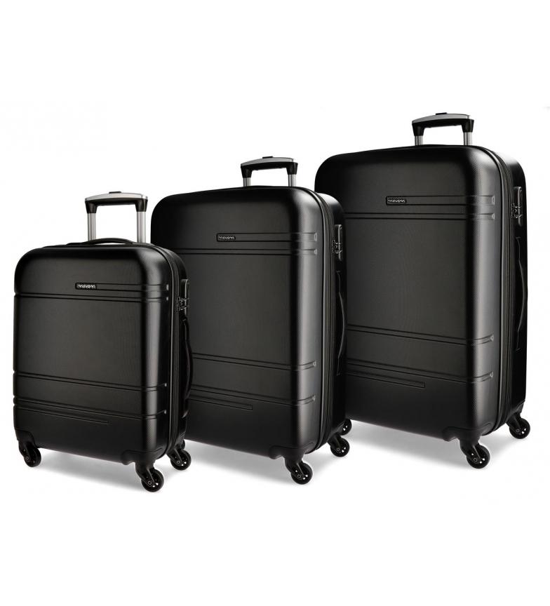 Comprar Movom Juego de maletas Movom Galaxy rígido 38L/72L/108L negro -40x55x20cm/48x68x27cm/53x78x31cm-