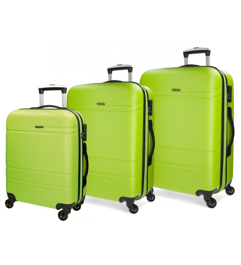 Comprar Movom Juego de maletas Movom Galaxy rígido Pistacho -40x55x20cm / 48x68x27cm / 53x78x31cm-