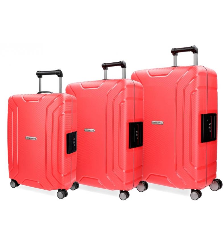 Comprar Movom Juego de maletas Movom Newport Rojo rígidas -55x36x20cm / 65x46x25cm / 75x43x29cm-