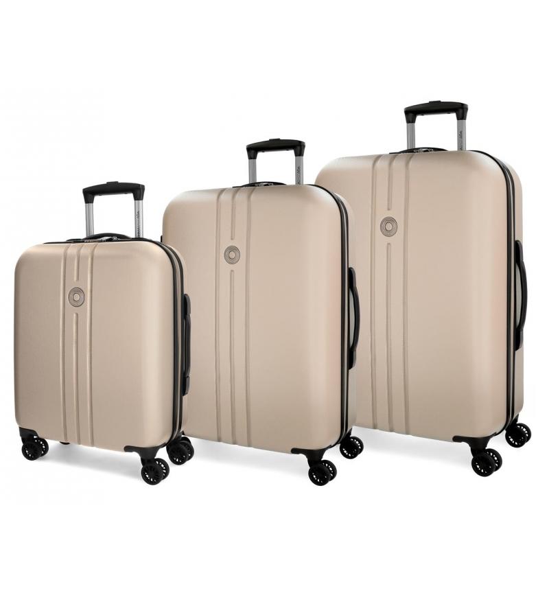 Comprar Movom Movom bagagem definir 55-70-80cm rígida Riga Champagne