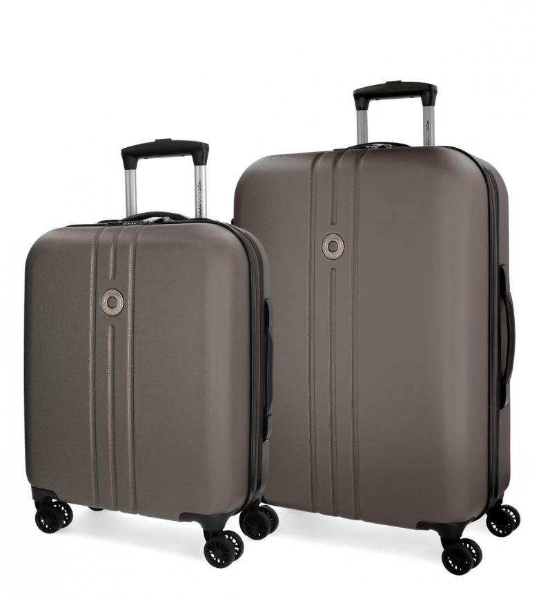 Comprar Movom Juego de maletas Movom Riga rígido Antracita -40x55x20cm / 49x70x26cm-