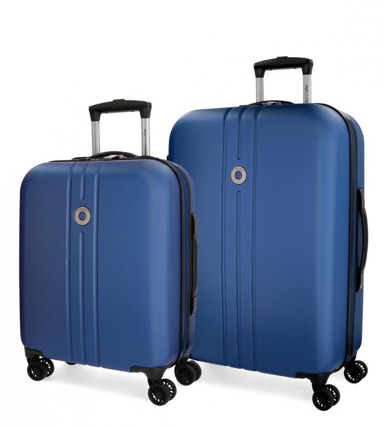 Comprar Movom Juego de maletas Movom Riga rígido Azul -40x55x20cm / 49x70x26cm-