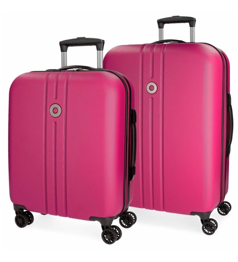 Comprar Movom Juego de maletas Movom Riga rígido 55-70cm Fucsia -40x55x20cm / 49x70x26cm-