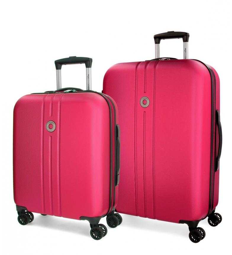 Comprar Movom Riga Movom Luggage Set Fuchsia 55-70cm rigide