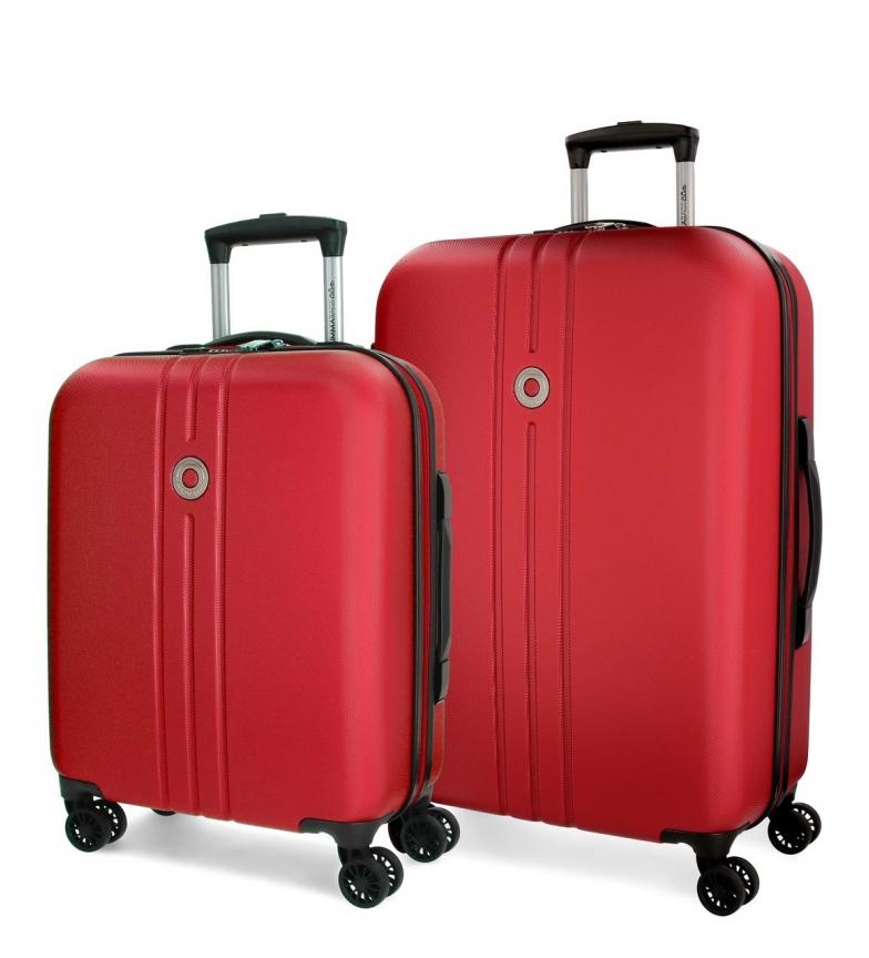 Comprar Movom Rigid luggage set Movom Riga 55-70cm Red