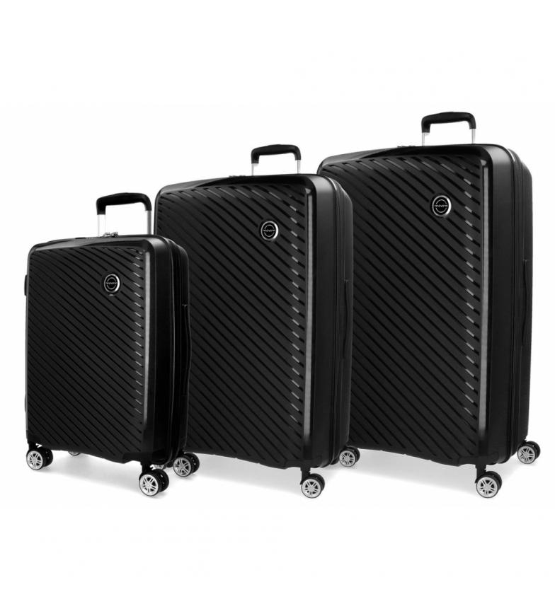Comprar Movom Juego de maletas Movom Tokyo Negro rígidas 55-66-78cm