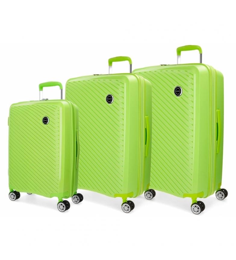 Comprar Movom Movom Tokyo suitcase set Rigid Pistachio 55-66-78cm