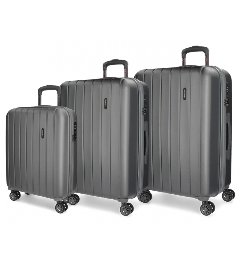 Comprar Movom Movom Luggage Set Bois 55-65-75cm Anthracite rigide
