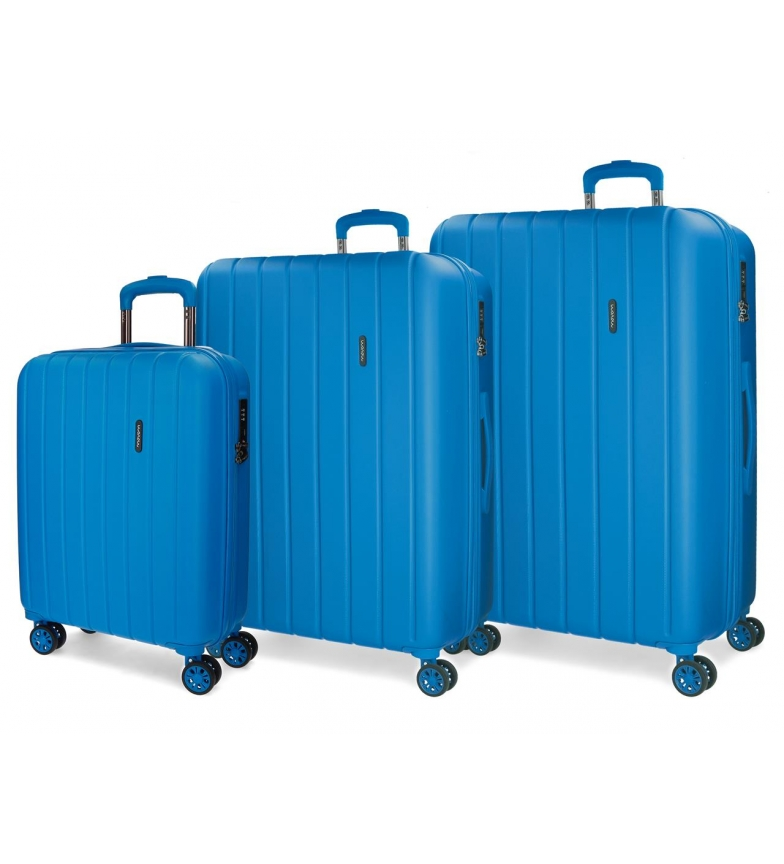 Comprar Movom Juego de maletas Movom Wood rígido  Azulon -40x55x20cm / 45x65x28cm / 52x75x33cm-