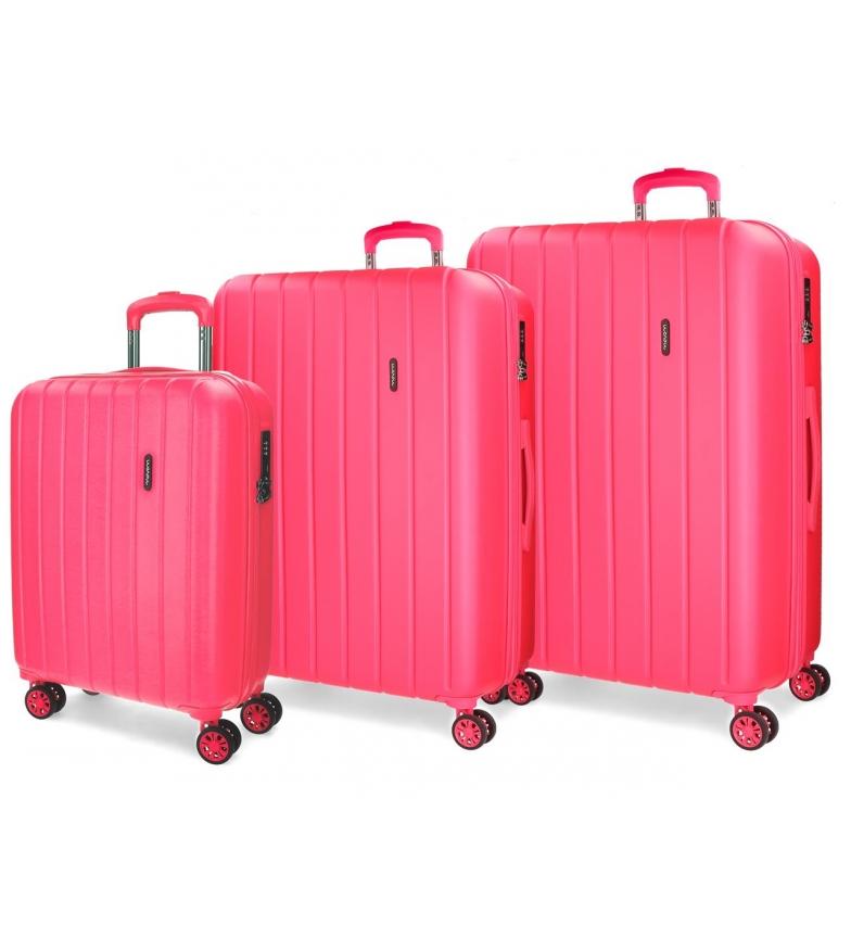 Comprar Movom Bois Luggage Set Movom 55-65-75cm rigide Fuchsia