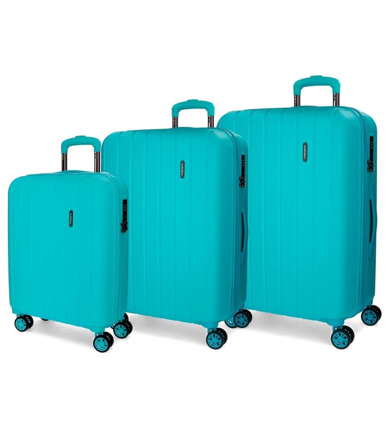 Comprar Movom Bois Luggage Set Movom Turquoise 55-65-75cm rigide