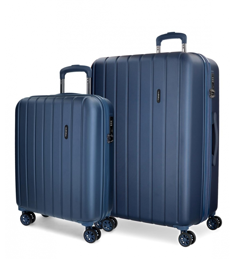 Comprar Movom Juego de maletas Movom Wood rígido Azul Marino -40x55x20cm / 45x65x28cm-