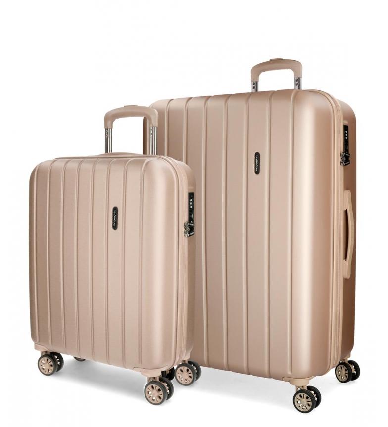Comprar Movom Juego de maletas Movom Wood rígido Champagne -40x55x20cm / 45x65x28cm-