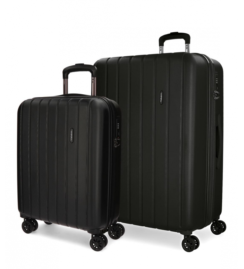 Comprar Movom Juego de maletas Movom Wood rígido Negro -40x55x20cm / 45x65x28cm-