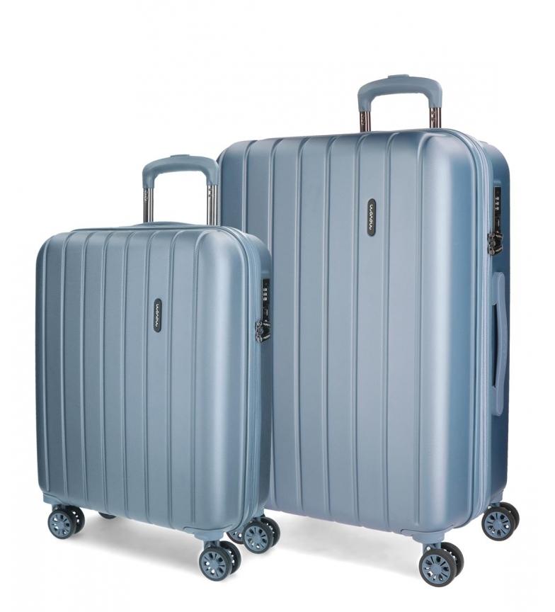 Comprar Movom Madeira bagagem definir Movom rígida 55-65CM Plata